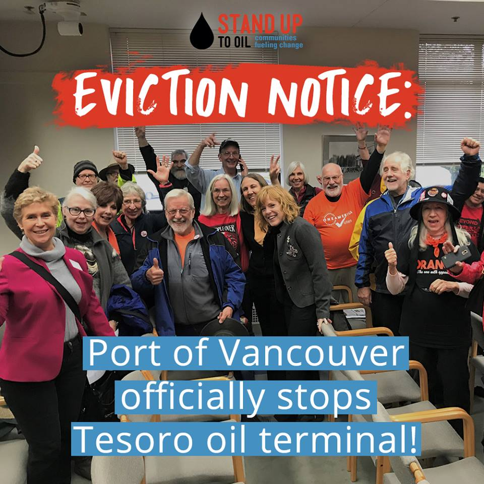 Oil terminal evicted