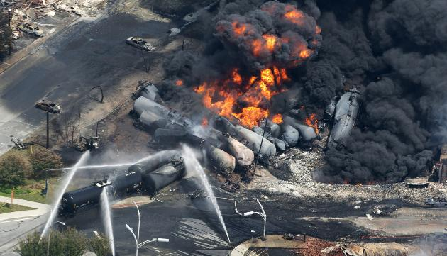 oil train derailment: north dakota
